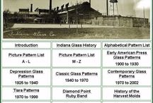Reference / Reference infographics - vintage manufacturing marks, architectural details, furniture, glassware, company histories