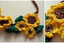 My crochet necklaces