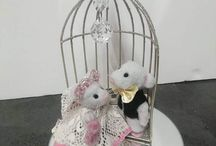 unique mice wedding cake topper