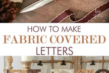 How to make fabric colored letters