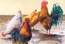 poules,coqs, volailles / by Françoise Dyonnet
