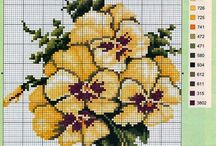 cross stich, knitting, crochet, embroidery