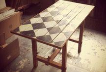 Checkerboard table ideas