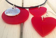 ::Summer Plexiglass capsule:: / orecchini, collane in plexiglass, Persian Pink, Red, Hot Pink