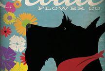 Scottish Terrier Art / Art inspired by Scottish Terriers!