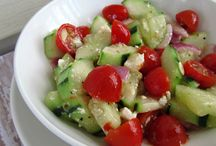 cucumber & tomato salaf