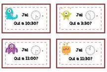 classe / lire l'heure