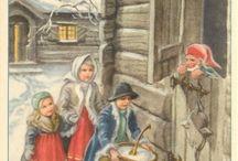 Curt Nystrøm. God Jul / Postkort