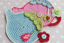 Crochet Tea pot coasters