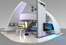 Exhibition booths and interactive landscapes