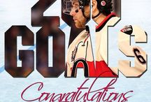 NHL Milestones / NHL players and goalies achieving career milestones in goals, assists, points, wins and shutouts.