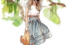 Fashion Sketches / Beautiful fashion sketches!