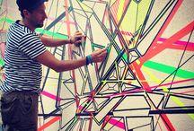 Washi tape murals