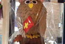 Sinterklaas / Sinterklaas surprise uil van papier-mâché