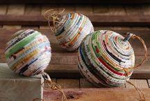 palline con carte di giornale