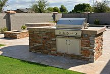 Outdoor Kitchens | BBQS | Firepits / Outdoor living in Arizona year round is pleasing with these backyard features.