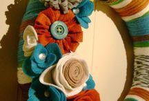 Věnce a dekorace filc