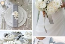 Wedding Colors White and Grey