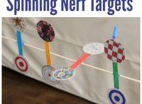 spinning nerf target game