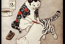 浮世絵ネコ