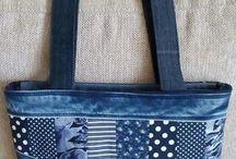 džínové tašky