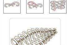 Tangle patterns / Zeichnen