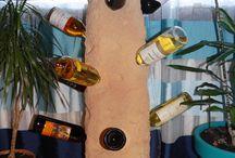Boros állvány, bortartó, műszikla, kunstfelsen, artificial rock