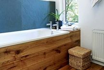 Bathtub wood front