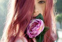 Pinky purple hair