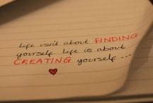 Inspo / Inspiration through words.