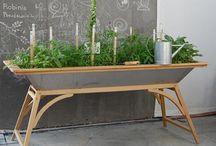 Møblement, installasjoner, plantekasser