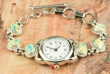 Ladies Watches / Beautiful watches with natural turquoise stones. / by Treasures of the Southwest.com