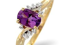 Amethyst Engagement Rings / Amethyst is the birthstone for February and the gem that marks Valentine's Day. Because Saint Valentine himself was famed for wearing a beautiful amethyst ring, the gemstone prevails as a symbol of love, making it the perfect engagement ring!