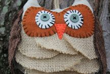 feltro e cucito creativo/felt, sewing / Felt, fabric creations / by Anna Bertacco