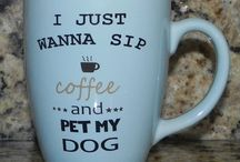 coffee, mugs and books
