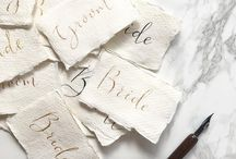 Wedding Calligraphy by Olive & Millicent