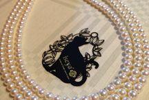 Three lines Pearl necklace / http://www.iseya-japan.com/en