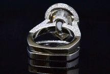 Teardrop Pear Cut Diamond Rings