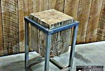 meuble acier bois