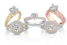Colorful Engagement & Wedding Rings