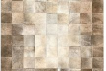 Patchwork Cowhide Rugs / Modern patchwork cowhide rugs that are made to order in Brazil.