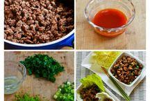 sriracha beef lettuce wraps