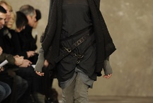 Black Fashion / Everything black. Hoods, leather, post apocalyptic, goth ninja, steampunk, oversize, boots, dresses. Yes it is all black.