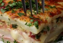 Cheese potato ham bake