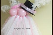 Princess/tutu's and Top Hat Centerpieces!