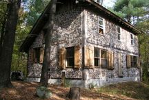 Cordwood house