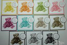 Card teddy stamp