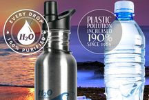Make the Right Choice for the Environment / Do you want to contribute to more plastic bottles on our beaches?  Using an H2O International water filter in your home to fill up a drinking bottle before you go to the beach will give you 100% purified water straight from the tap and will save the environment.