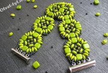 Tila, tile, silky beads