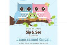 Lee Paperie Sip and See Invitations / Custom sip and see party invitations by Lee Arthaus